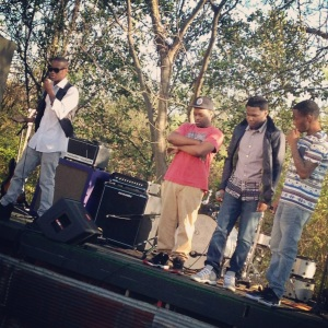 Twigga on the mic, Corinthian, Kincaid and Cee