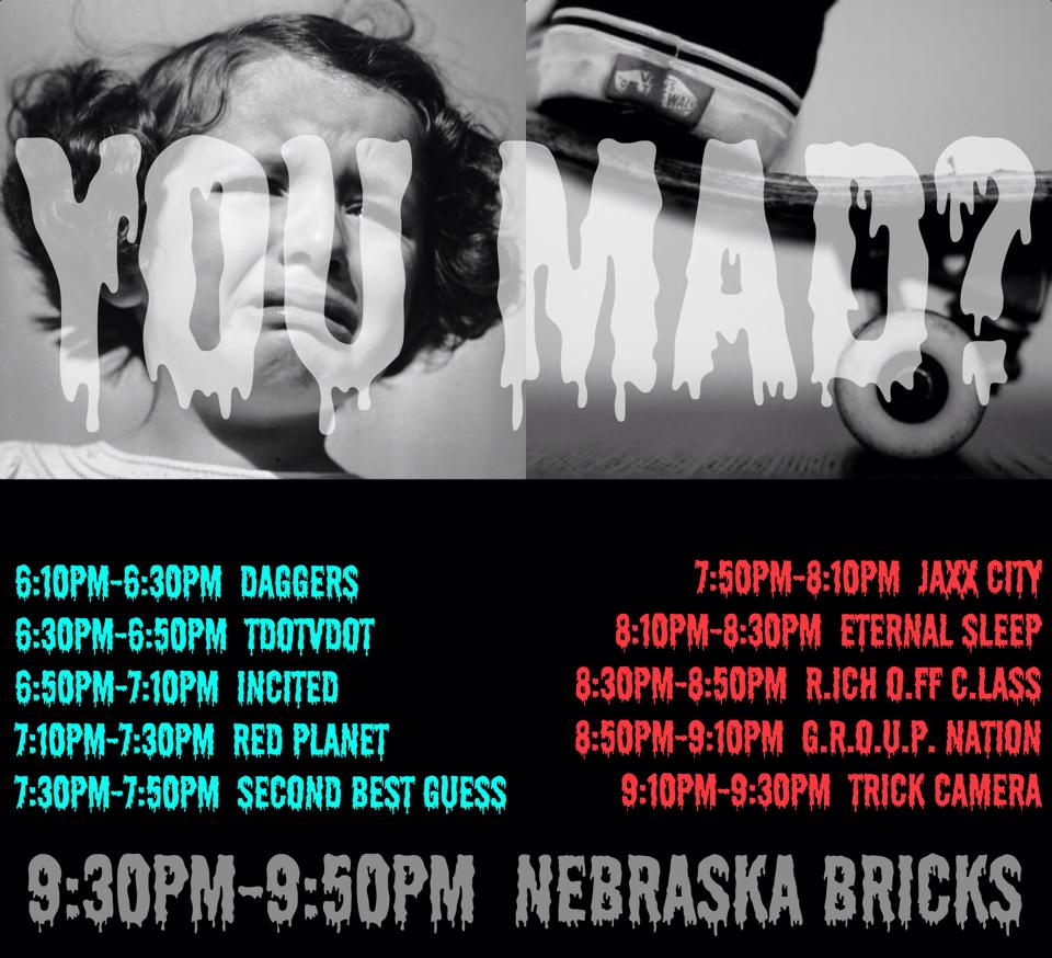 You Mad? Concert and Skate Competition at Doc*36 Skatepark in Jackson
